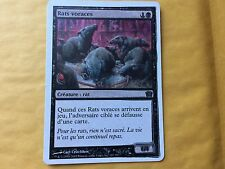 Misprint Ravenous Rats French 9th Edition Blackened Smeared Ink MTG Magic Card