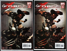 X-FORCE Vol 3 1A + 1B Variant Bloody Cover NM+ Cable Cyclopse Wolverine X-23 NM+