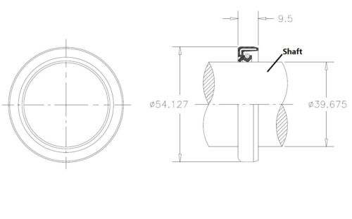Rotary Cutter Gearbox Output Oil Seal Woods 1018328