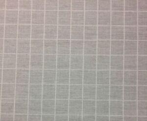 "BALLARD DESIGNS WINDOWPANE BLACK SUNBRELLA OUTDOOR INDOOR FABRIC BY YARD 54/""W"