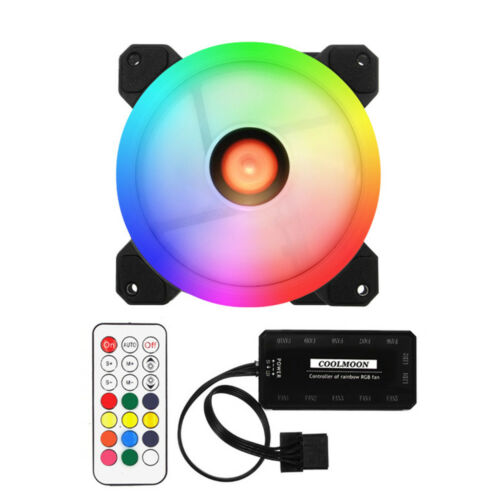 DR12 RGB LED 120mm High Performance Case Cooling Fan For PC Computer