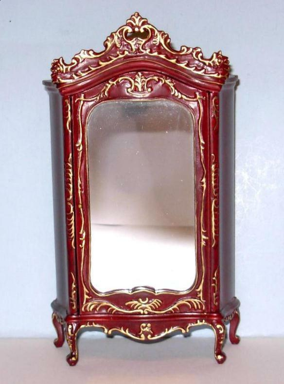 HANSSON ARMOIRE CARVED  CA05404HRG MINIATURE DOLL HOUSE FURNITURE MINIATURES