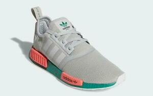"""Adidas NMD R1 Casual Shoes Gray Green Pink """"South Beach"""" FX4353 Men's NEW"""