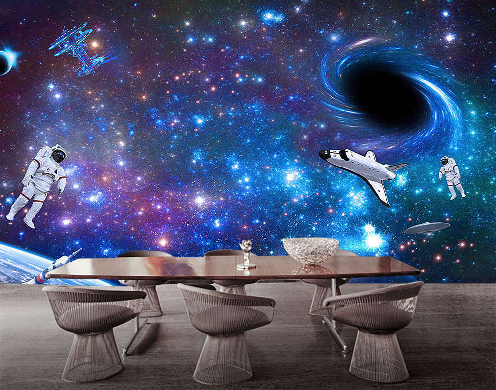Astronaut In Space 3D Full Wall Mural Photo Wallpaper Printing Home Kids Decor