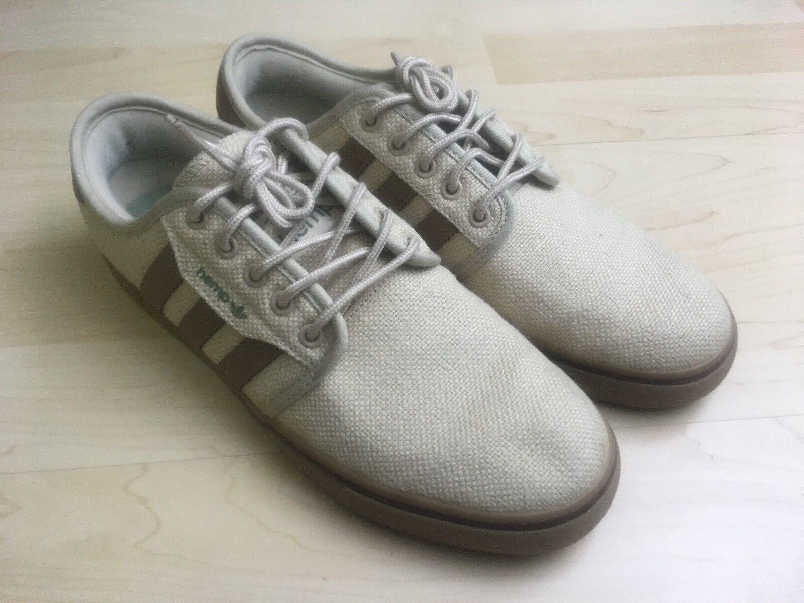 Adidas HEMP Men's Shoe Low Size US 7.5 FR 20 2/3 JP 255 CHN 250 TAN BROWN