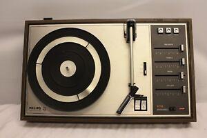 PHILIPS-22-GF815-22-GF815-VINTAGE-RECORD-TURNTABLE-PLAYER-amp-NEEDLE-22GP205