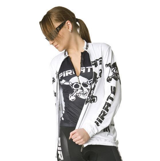 Pirate Trikot Langarm Weiss, Pirat, Skull, Totenkopf