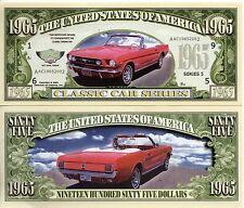 1965 Mustang - Classic Car Series Million Dollar Novelty Money
