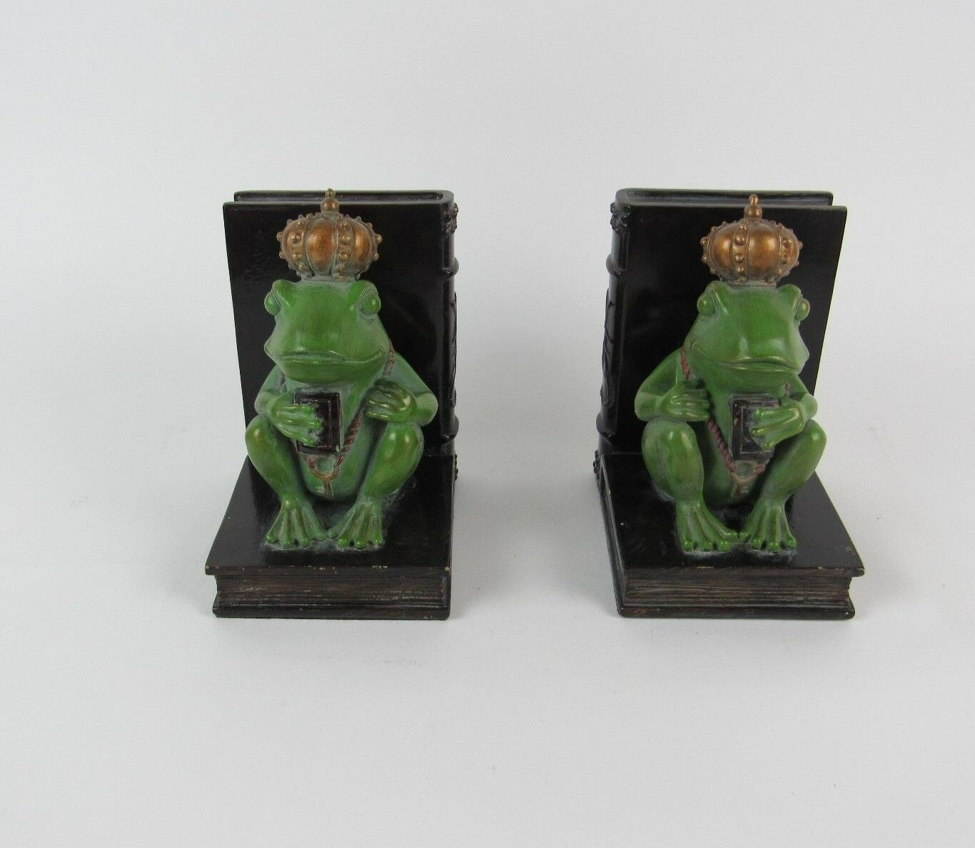 Resin Rajah Frog With Crown Sitting on Book Book Book Duo  Bookends Figurine by SPI-HOME 1df7ec
