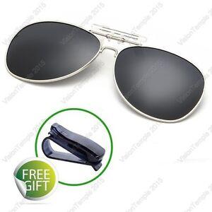 5cb3e7bf000 Driving Men s Clip-on Flip-up Polarized UV400 Myopia Lens Sunglasses ...