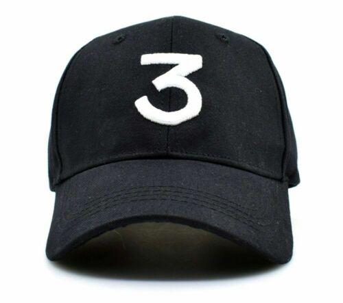Rapper Men Hip Hop Baseball Cap Men Rapper 3 Streetwear Chance Hat Caps Black X