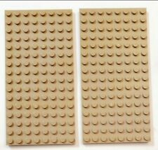 LEGO Lot of 9 Plate 16X8 Tan 92438 friends Minecraft piece parts sand