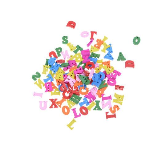100X Letters Wooden Alphabet Embellishment Scrapbooking Cardmaking Craft gift ZY