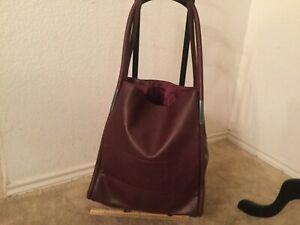 Burgundy Tote Bag Purse Shoulder Large