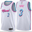 NBA New Jersey Wade Miami Heat No 3 basketball swinger blue whiteEmbroidery