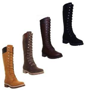 Details about Timberland 8167R Womens Nubuck Leather Knee High 14 inch Lace  Up Boots Uk Size 2dff5ebfb