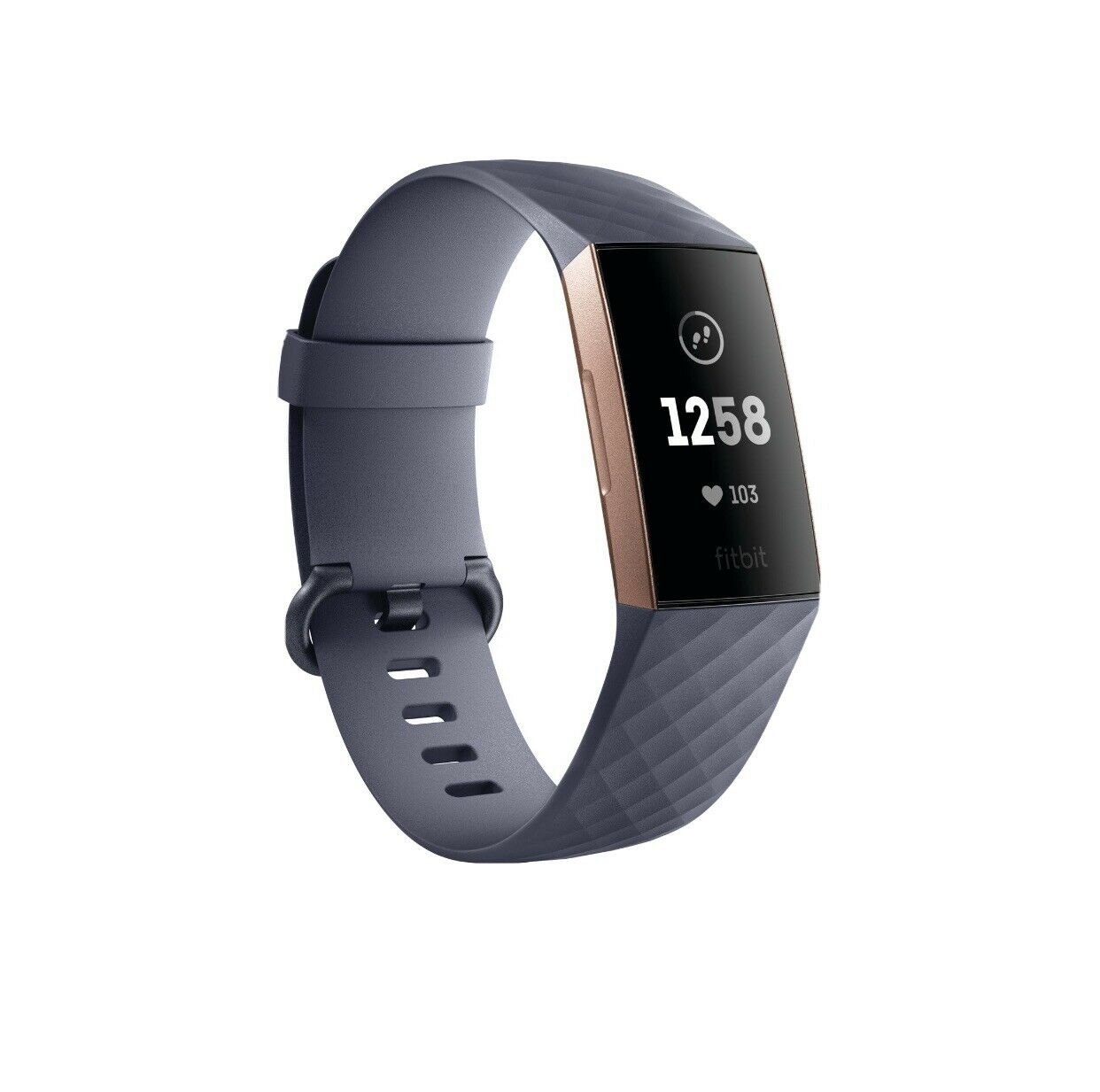 NEW Fitbit Charge 3 Activity Tracker + Heart Rate Rose Gold/Blue Gray