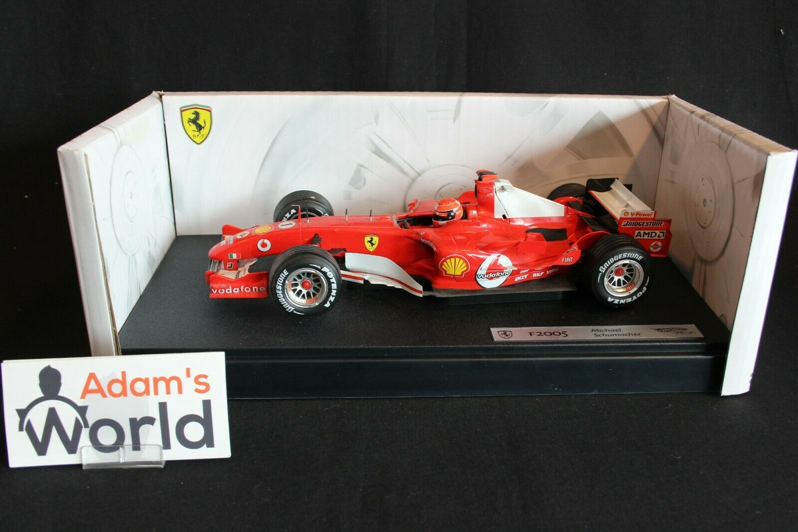 Hot Wheels Ferrari F2005 2005 1 18 Michael Schumacher (GER) (PJBB)