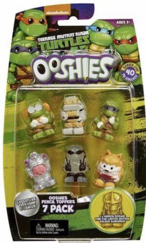 """Ooshies Set 4 /""""Teenage Mutant Ninja Turtles Series 1/"""" Action Figure 7 pack"""