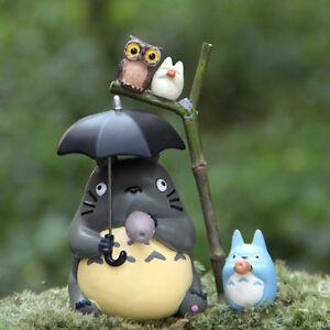 4Pcs-Set-Blue-Totoro-Little-Jiza-Owl-Figure-Fairy-Garden-Toys-Terrarium-Decor
