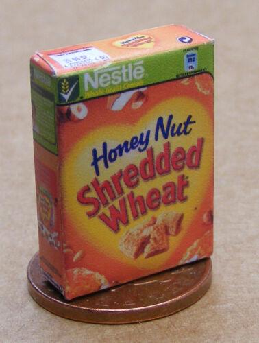 1:12 SCALA VUOTO SHREDDED Wheat pacchetto tumdee Casa delle Bambole Accessorio Cereali Alimentari