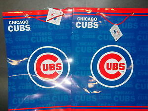 Mlb Quot Chicago Cubs Quot Gift Bags 2 Bags Large Ebay
