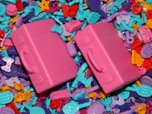Lego friends PINK SUITCASE x2 accessories x25 butterfly flower star purple