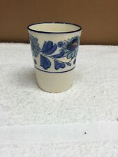 Vintage Hand Painted Floral Design Ceramic Small Cup/Vase