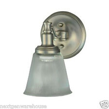 Martha Stewart Wayland Collection 1 Light Brushed Nickel Wall Sconce