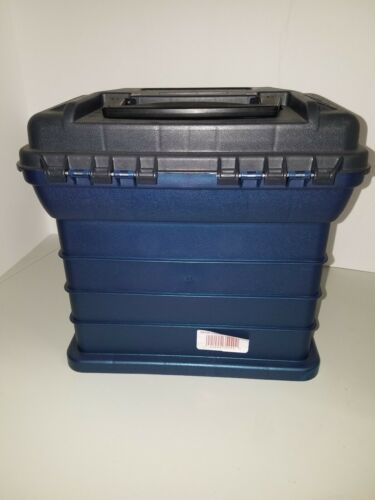 "Plano 3500 Fishing 4-BY Rack System 4 Drawer Tackle Box Blue 11/""x11/""x7/"""