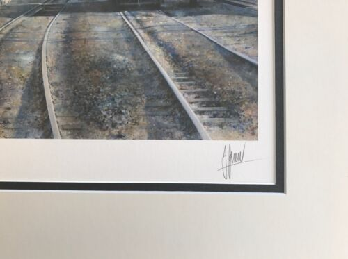 Black 5 Railway Steam Train Print Willesden Painting by Artist James Green