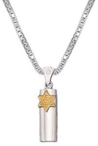 0-925-Sterling-Silver-Jewish-Star-of-David-Mezuzah-Case-Pendant-Charm-Necklace