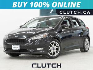 2015 Ford Focus SE w/ Heated Seats, Heated Steering Wheel, & Backup Cam