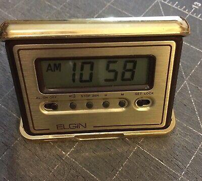 Vintage Elgin Folding Clock and Jewelry Box
