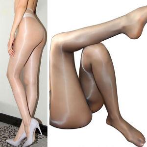 daf2dcad37c96 1D Women Ultra Thin Sexy Sheer Oil Shiny Glossy Pantyhose Nylon ...