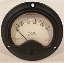 Vintage Westinghouse Volt Meter Made In Usa Black Bakelite Please Read Discrip