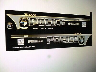 Mission Texas Police Patrol Car Decals 1:24