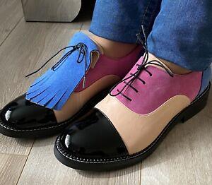 mujer Oxford Zapatos Talla 40 EE. UU