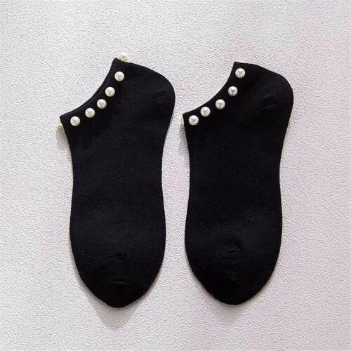 Socken kurz Perle glänzend Sox Bonneterie bonbons Farben Frauen Baumwolle