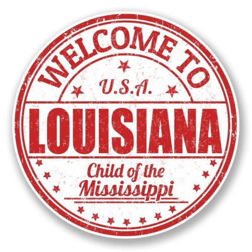 2 x Louisiana USA Vinyl Sticker Laptop Travel Luggage Car #5996