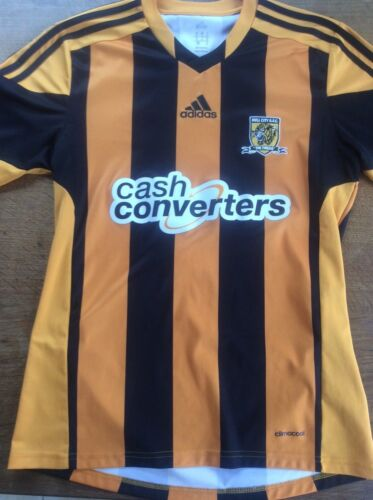 Adidas Hull City Football Shirt Mens Sz Small Climacool Embroidered Tigers Badge