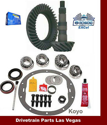 "09 GM Chevy 8.6/"" 10 Bolt 4.56 Richmond Excel Ring Pinion Gear Set Install Kit"