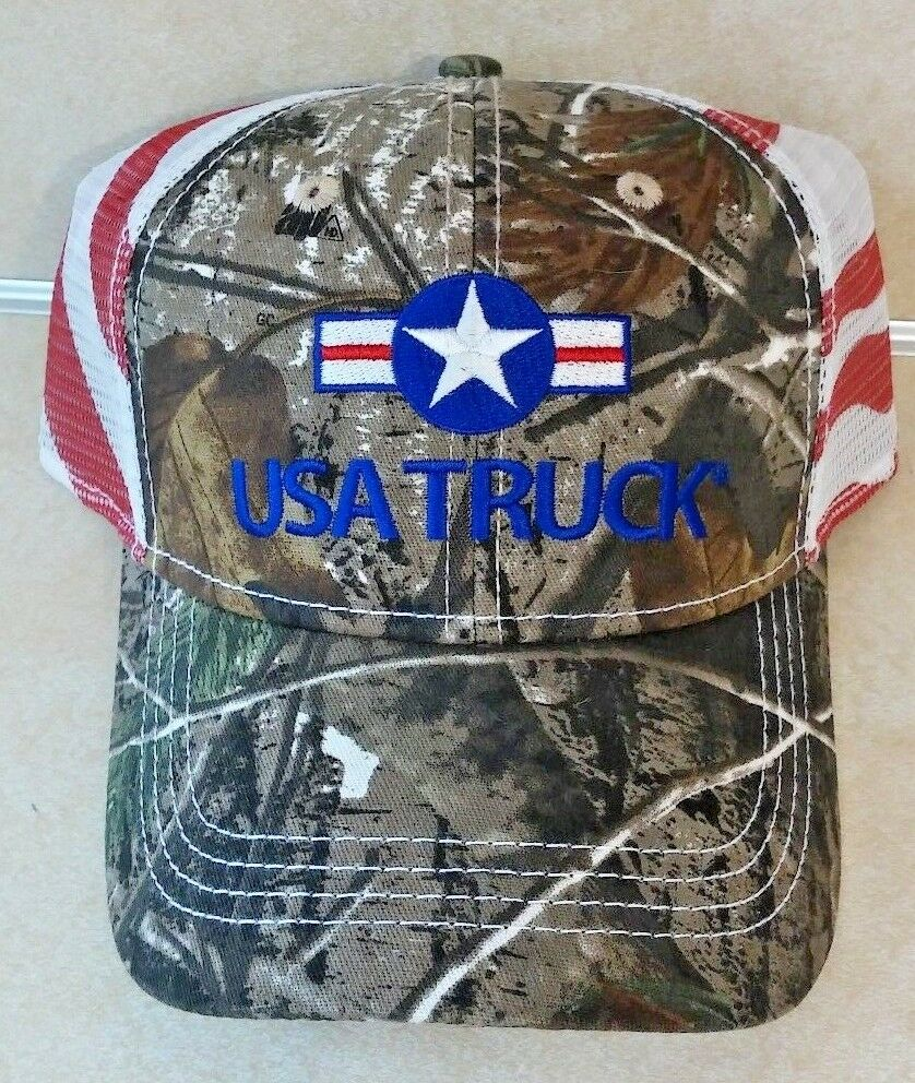 NEW CAP AMERICA REALTREE CAMO FRONT ADJUSTABLE & TRUCKER MESH BACK ADJUSTABLE FRONT STRAP c38331