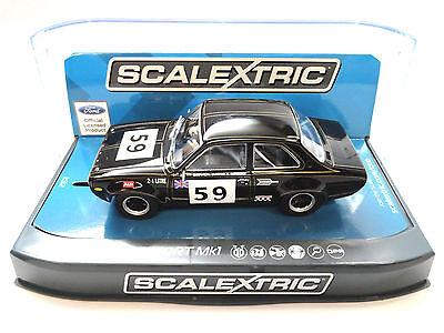 "Scalextric ""Alex"" Ford Escort Mk1 DPR W/ Lights 1/32 Scale Slot Car C3748"