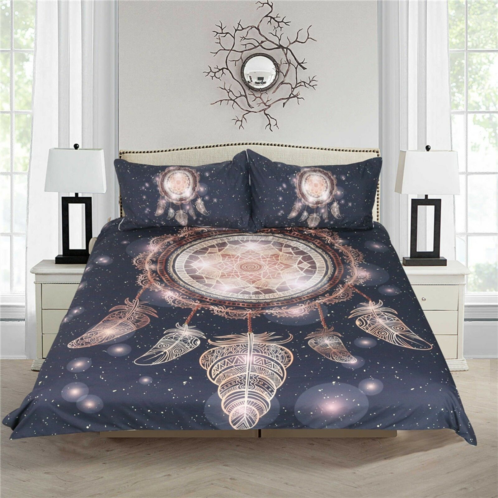 3D Fantasy Feather 494 Bed Pillowcases Quilt Duvet Cover Set Single Queen CA