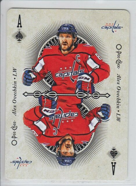 2018-19 O-PEE-CHEE HOCKEY ALEX OVECHKIN ACE SPADES PLAYING CARDS OPC Capitals