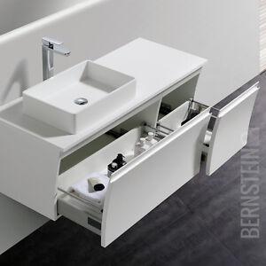 bernstein badm bel set 120cm vorbereitet f r aufsatzwaschbecken wei schwarz ebay. Black Bedroom Furniture Sets. Home Design Ideas