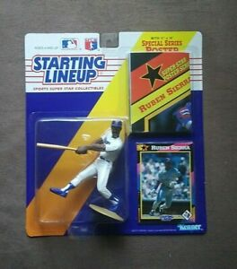 1992 Kenner Starting Lineup Ruben Sierra Action Figure Trading Card & Poster