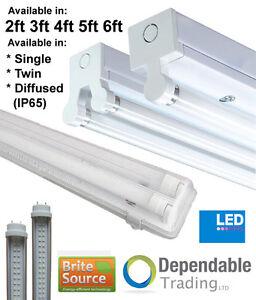1-20m-T8-36w-Leuchtstoff-HF-Fassung-LED-Feuchtraumwanne-3500k-4000k-Roehre