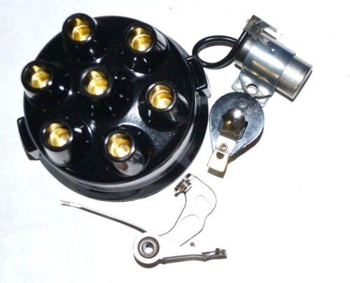 CHEVROLET 1942 1946 1947 1948 DISTRIBUTOR CAP ROTOR POINTS CONDENSER 6 cylinder